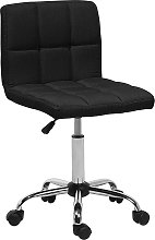 Fabric Armless Desk Chair Black MARION