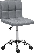 Fabric Armless Desk Chair Grey MARION