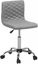 Fabric Armless Desk Chair Grey ORLANDO