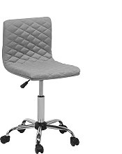 Fabric Armless Desk Chair Grey ORLANDO