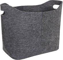 Fabric Basket Symple Stuff Colour: Dark grey