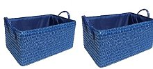 Fabric Basket Wayfair Basics Colour: Blue, Size:
