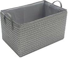 Fabric Basket Wayfair Basics Colour: Dark Grey,