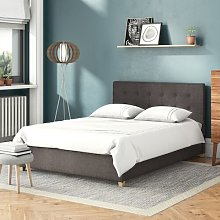 Fabric Button Upholstered Ottoman Bed Brayden