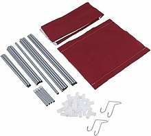 Fabric Canvas Wardrobe with T-shape Zippers,