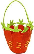 Fabric Carrot Easter Egg Treasure Hunt Basket -