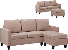 Fabric Corner Sofa Set, L Shape Combination Sofa