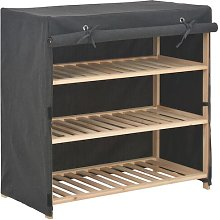 Fabric Cover 9 Pair Shoe Storage Cabinet
