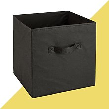 Fabric Cube or Bin Hashtag Home Colour: Black,