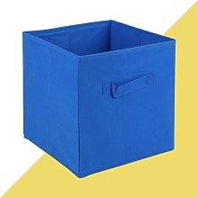 Fabric Cube or Bin Hashtag Home Colour: Dark Blue,