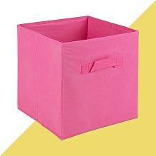 Fabric Cube or Bin Hashtag Home Colour: Dark Pink,
