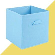 Fabric Cube or Bin Hashtag Home Colour: Sky Blue,