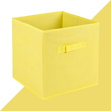 Fabric Cube or Bin Hashtag Home Colour: Yellow,