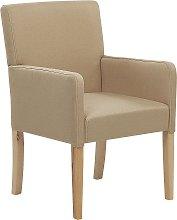 Fabric Dining Chair Beige ROCKEFELLER