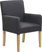 Fabric Dining Chair Grey ROCKEFELLER