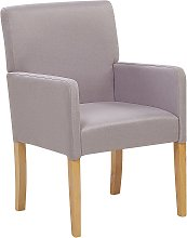 Fabric Dining Chair Light Grey ROCKEFELLER