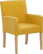 Fabric Dining Chair Yellow ROCKEFELLER