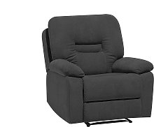 Fabric Recliner Chair Grey BERGEN