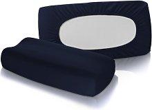 Fabric (Set of 2) Fleuresse Colour: Navy blue