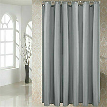 Fabric shower curtain 180x200cm plain White Extra