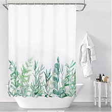 Fabric Shower Curtain, Green Herbs Shower