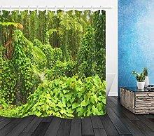 Fabric Shower Curtain Liner for Bathroom Hawaii