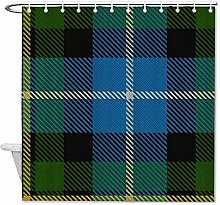 Fabric Shower Curtain Scottish Clan Macneil Blue