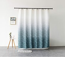 Fabric shower curtain with 12 C-rings - Mold