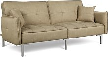 Fabric Sofa Bed 3 Seater Click Clack Sofa Couch
