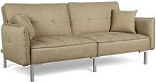 Fabric Sofa Bed 3 Seater Modern Click Clack