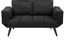 Fabric Sofa Bed Black BREKKE