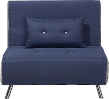 Fabric Sofa Bed Blue FARRIS