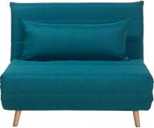 Fabric Sofa Bed Blue SETTEN