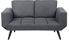 Fabric Sofa Bed Dark Grey BREKKE
