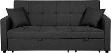 Fabric Sofa Bed Dark Grey GLOMMA