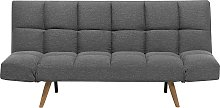Fabric Sofa Bed Dark Grey INGARO