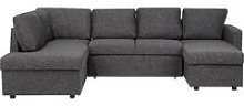 Fabric Sofa Bed Dark Grey KARRABO