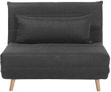 Fabric Sofa Bed Dark Grey SETTEN