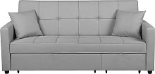 Fabric Sofa Bed Grey GLOMMA