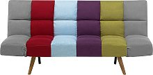 Fabric Sofa Bed Multicolour Patchwork INGARO