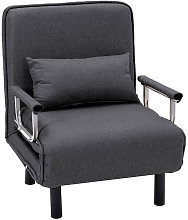 Fabric Sofa Bed Recliner Chair Single Sleeper Bed