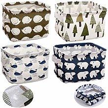 Fabric Storage Basket, 4 Packs Waterproof Fabric