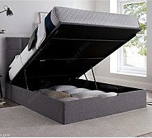 Fabric Storage Bed, Happy Beds Whitburn Grey