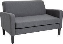 Fabric Two-Seater Sofa Settee Loveseat Living Room