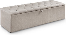 Fabric Upholstered Blanket Bedding Box Mink