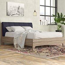 Fabric Upholstered Platform Bed Borough Wharf
