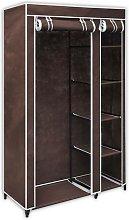 Fabric Wardrobe Brown VD30970 - Hommoo