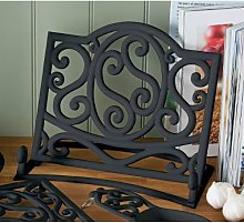 Fabulous Cast Iron Cook book Stand Black Kitchen