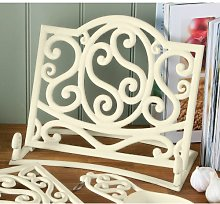 Fabulous Cast Iron Cook book Stand Cream Kitchen