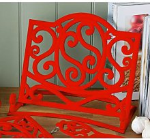 Fabulous Cast Iron Cook book Stand Red Kitchen